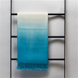 Dip-Dyed Throw Pool Blue