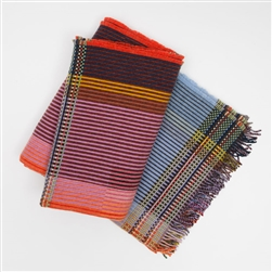 W Pinstripe Faraday Lambswool Throw