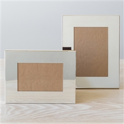 Flat Wide Silver Frame