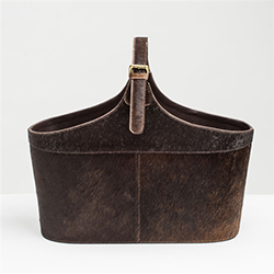 Hide Magazine Holder Brown