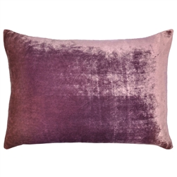 Velvet Ombre Lumbar Pillow Rose Mauve