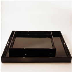 Lacquered Tray Black