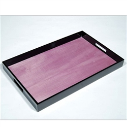 Lacquered Tray Purple Tulipwood/Black