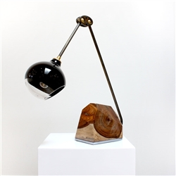 Customizable Mantis Pagano Table Lamp Hand Blown Glass and Metal Armature