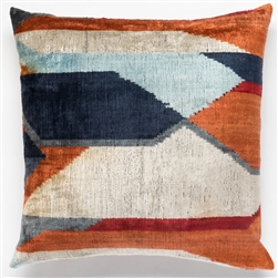Silk Velvet Rust Pillow Square