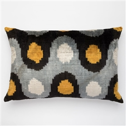 Silk Velvet Pillow Dots Lumbar