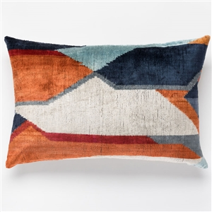 Silk Velvet Rust Pillow Lumbar