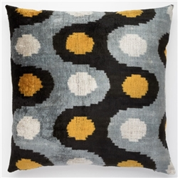 Silk Velvet Pillow Dots