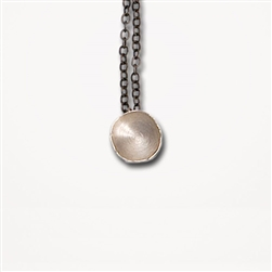 H Fragment Chain Silver Pendant Necklace