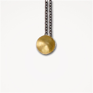 H Fragment Chain Gold Pendant Necklace