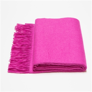 Baby Alpaca Throw Hot Pink