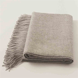 Baby Alpaca Throw Light Grey