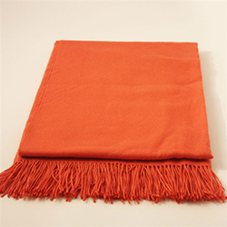 Baby Alpaca Throw Orange