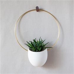 LL Spora Circle Brass Planter