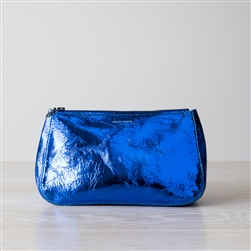 leather pouch cobalt foil