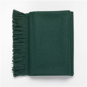 Baby Alpaca Throw Forest Green