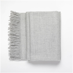 Baby Alpaca Throw Flannel Grey