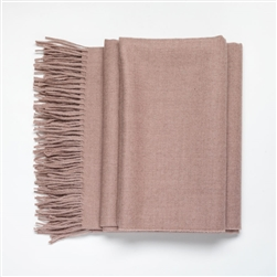 Baby Alpaca Throw Light Ash Rose