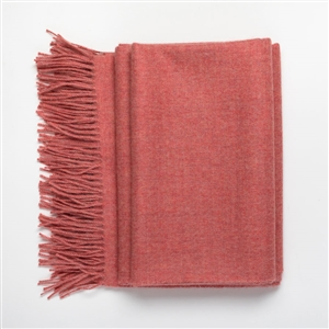 Baby Alpaca Throw Strawberry Ice