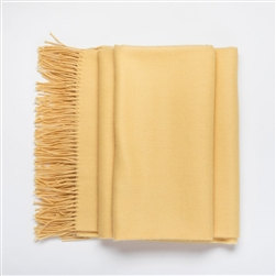Baby Alpaca Throw Yellow