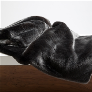 Faux Fur Throw, Anthracite