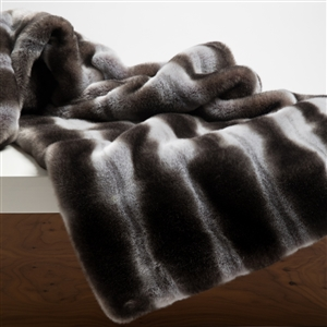 Faux Fur Throw, Chinchilla