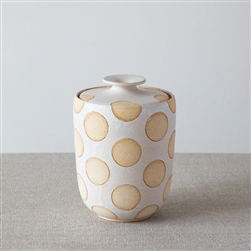 MW WHITE POLKA DOT JAR