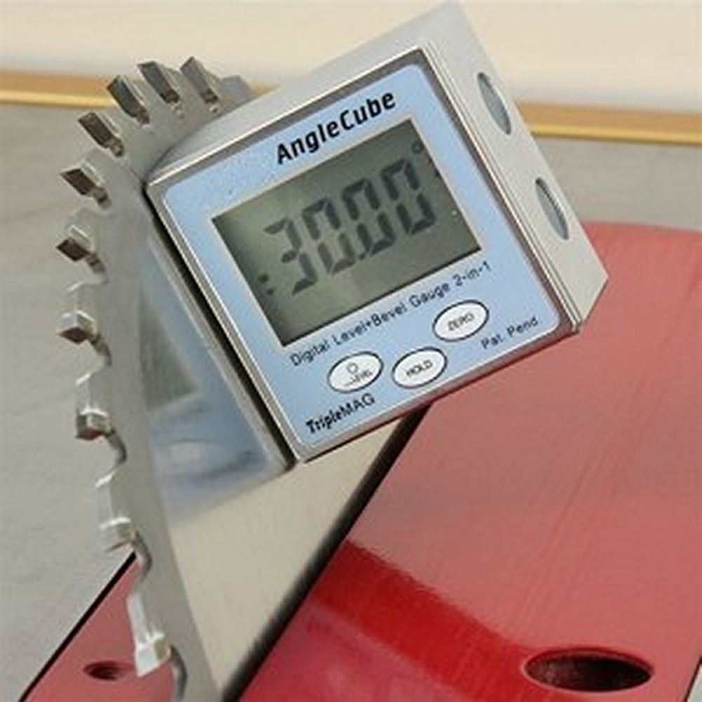 Magnetic Angle Indicator : Digital magnetic angle cube gage gauge level table