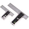 "PAIR 6"" & 4""  High Precision DOUBLE SQUARE 4R Steel Blade Machinist Woodworking"