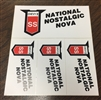 NNN Window Stickers. 4 per sheet.