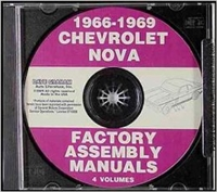 1966-1969 Nova GM Assembly Manuals on CD