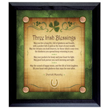 Three Irish Blessings Personalized Wall Frame