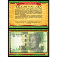 Remembering Nelson Mandela - 10 RAND South African Currency