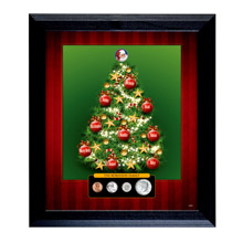 Personalized Family Framed Coin Christmas Tree