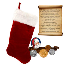 The Legend of the Christmas Stocking Coin Collection