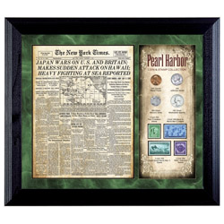 New York Times Pearl Harbor Coin & Stamp Collection