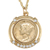 Gold-Layered Silver Mercury Dime Pendant