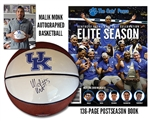 Monk Autographed Ball + Book Combo