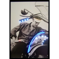 ELVIS ON MOTORCYCLE NEON/LED