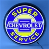 15 INCH BACKLIT LED LIGHTED SIGN SUPER CHEVROLET SERVICE