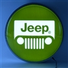15 INCH BACKLIT LED LIGHTED SIGN JEEP GREEN