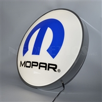 22 INCH BACKLIT LED LIGHTED SIGN MOPAR OMEGA M