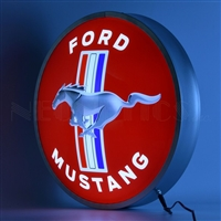 15 INCH BACKLIT LED LIGHTED SIGN MUSTANG