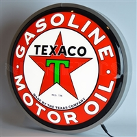 15 INCH BACKLIT LED LIGHTED SIGN TEXACO MOTOR OIL