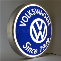 15 INCH BACKLIT LED LIGHTED SIGN VOLKSWAGEN SINCE 1949