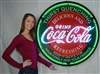 COCA-COLA EVERGREEN NEON SIGN IN 36″ STEEL CAN