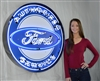 FORD AUTHORIZED SERVICE NEON SIGN IN 36″ STEEL CAN