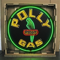 GAS – POLLY GAS NEON SIGN IN 36″ STEEL CAN