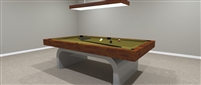 Silver Mc Queen Pool Table