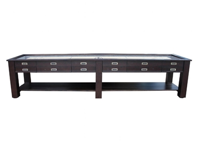 "12 ft ""The Aspen"" 2 in 1 Shuffleboard & Console Table"